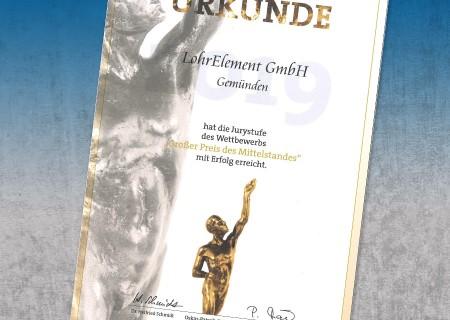 """Nominierung zum """"Großen Preis des Mittelstandes"""" 2019"""