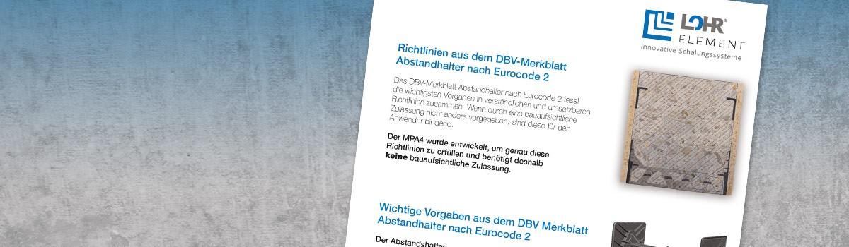 Richtlinien aus dem DBV-Merkblatt Abstandhalter nach Eurocode 2